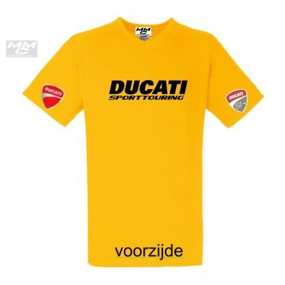 ST-Ducati V-hals shirt Geel