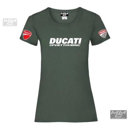 ST-Ducati T-shirt Groen Lady-fit