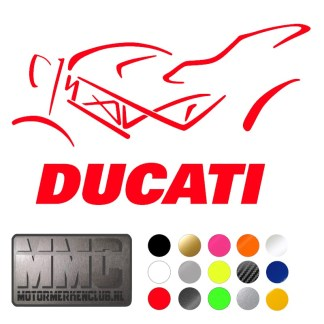 Ducati Monster silhouette sticker