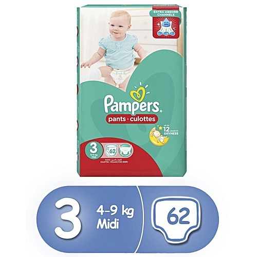 Pampers Size 3 Midi 62 Count