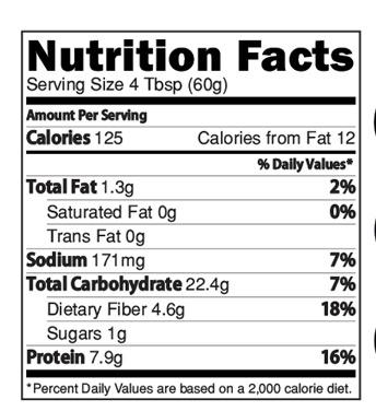 Instant Wheat Dalia Elaichi Powder Nutrition Facts