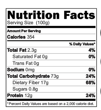 Organic Barley Cereal Nutrition Facts