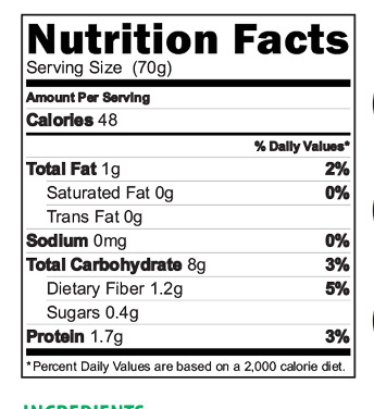 Organic Oatmeal nutrition Facts