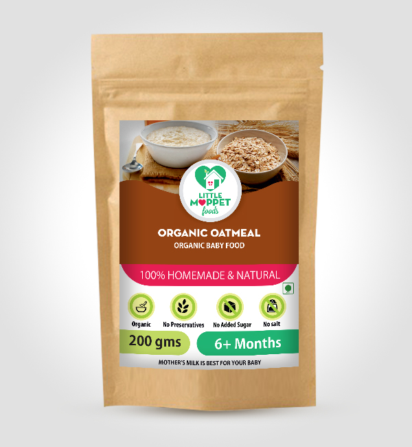 Buy Little Moppet Foods Organic Oatmeal online India