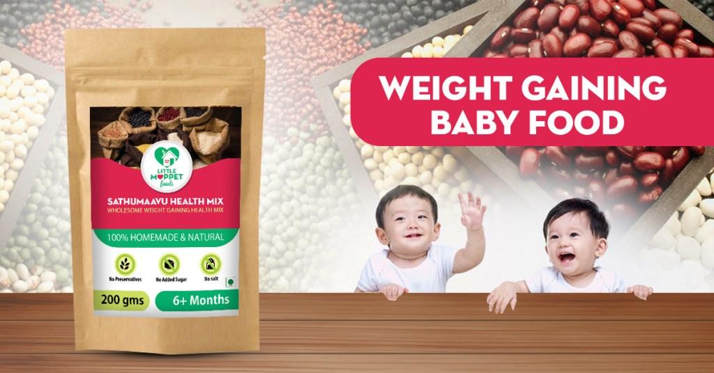 weight gaining baby food