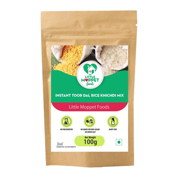 Instant Rice Khichdi (with Toordal) is a wholesome Baby food with the energy, proteins, folic acid, digestive fibre and vitamins rich rice and toor dal.