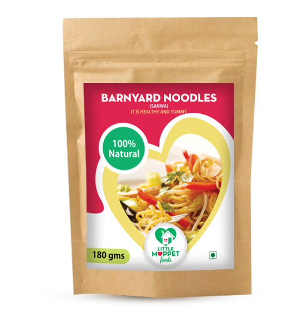 Lose your extra calories with a bowl of complete health and nutrition – that's our Barnyard Millet Noodles.Helps to lose baby weight and also to stay fit!