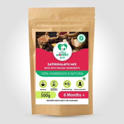 Sathumaavu health mix is a weight gaining health mix for babies.This Multigrain health mix consists of 13 different pulses, cereals and dry fruits.