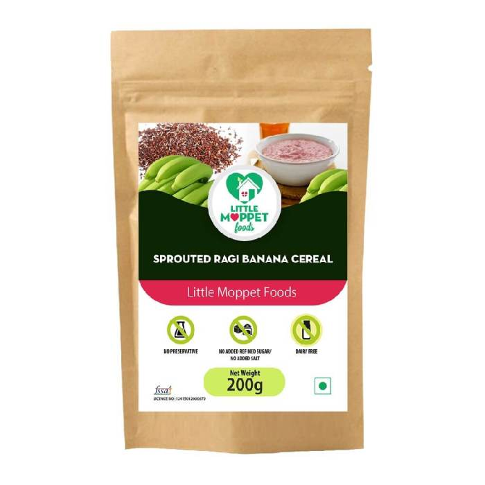 Sprouted Ragi Banana Cereal