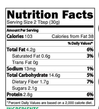 Banana Multigrain Health Drink Nutrition Facts