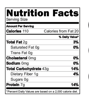 Organic Phool Makhana Dalia Porridge Mix Nutrition Facts