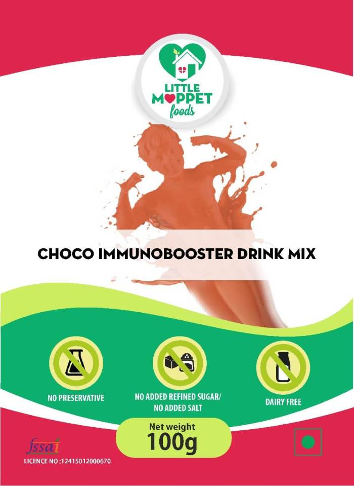 Choco Immunobooster Drink Mix – Drink Mix For Kids And Adults - [Trial Pack 100g]