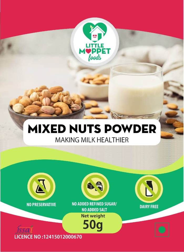 Mixed Nuts Powder with Walnut Trial Pack 50g