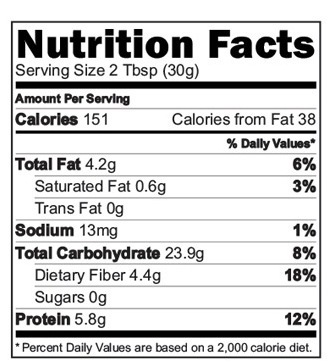 Sprouted Sathumaavu Health Mix Nutrition facts