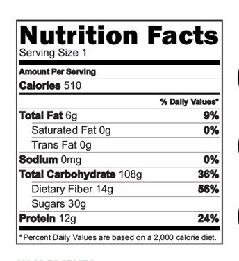 Banana Oats Cereal Nutrition Facts