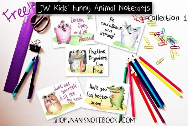 Kids Animal Notecards