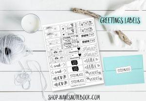 greetings labels