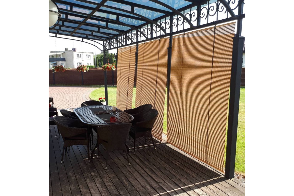 extra wide bamboo blinds and patio