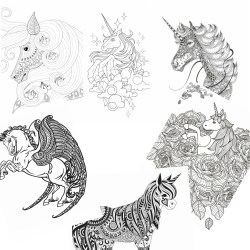 fun coloring pages for adults with unicorns