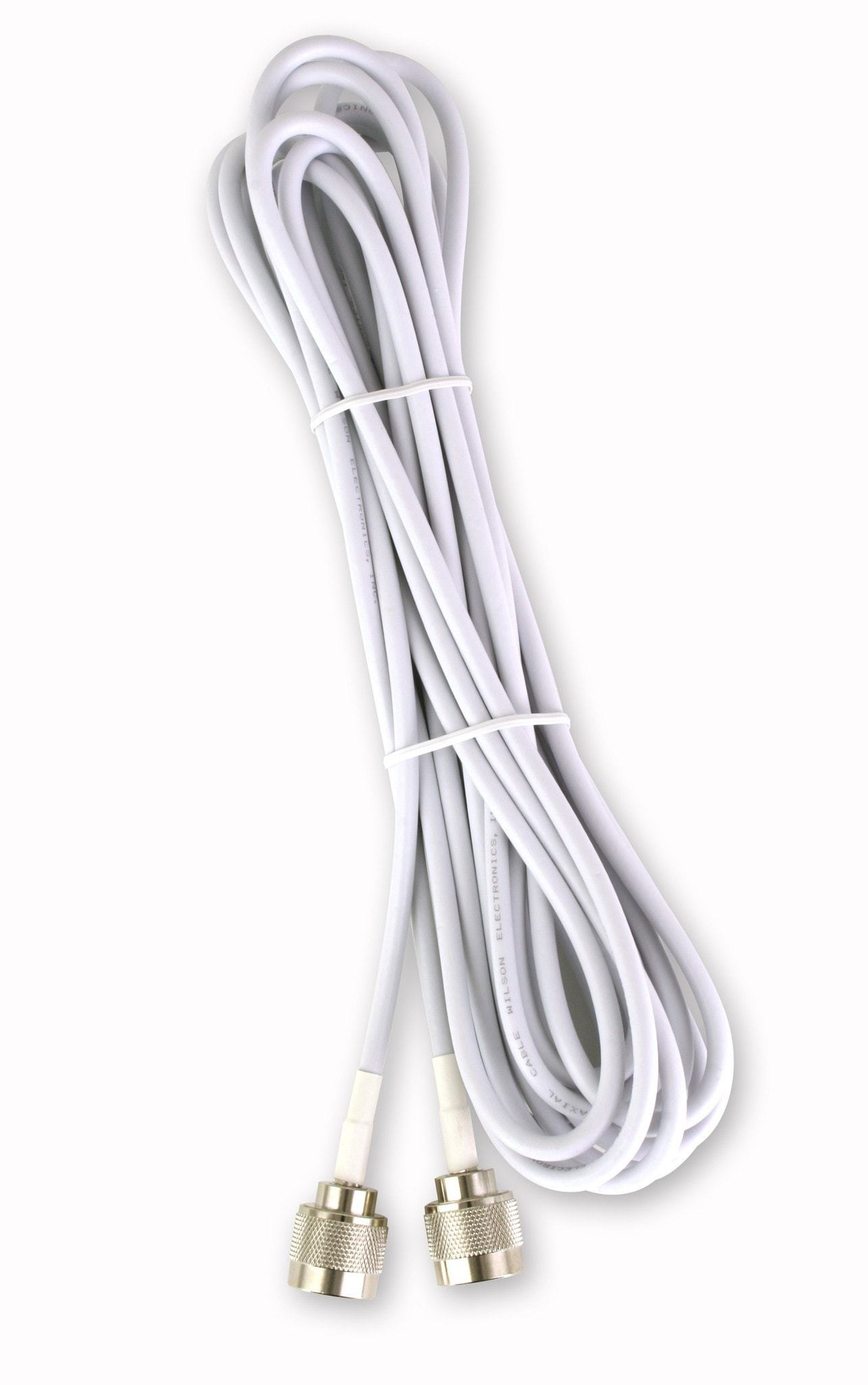 20 Ft White Rg58 Low Loss Cable N Male To N Male