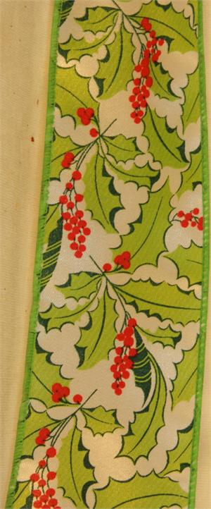 Green Ribbon Holly