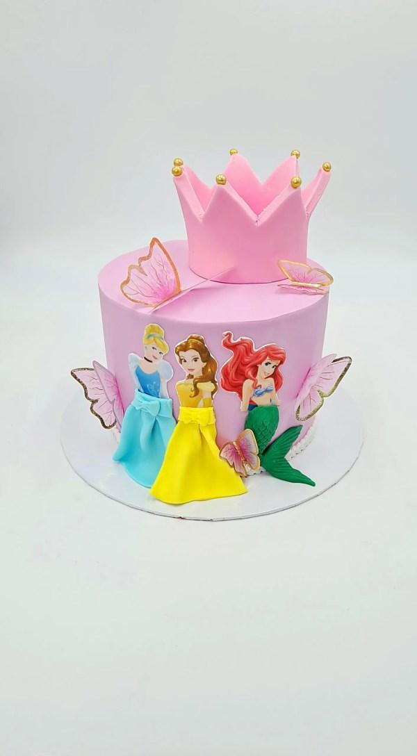 Princesses disney gateau