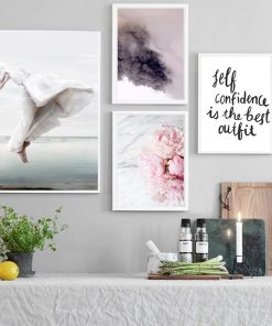 Dreamy Soul, Sky, Flower, and Inspirational Text Frameless Poster