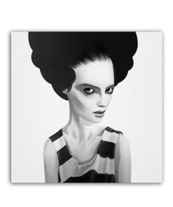 Feminine Two-tone Images Of Women Frameless Art Poster