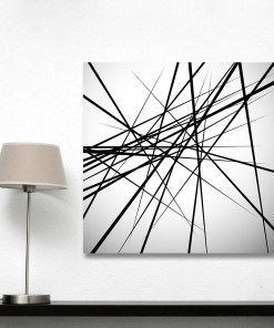 Solemn Two-Tone Line Drawing Frameless Abstract Poster