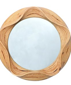 Gorgeous Bespoke Round Solid Birch Mirror