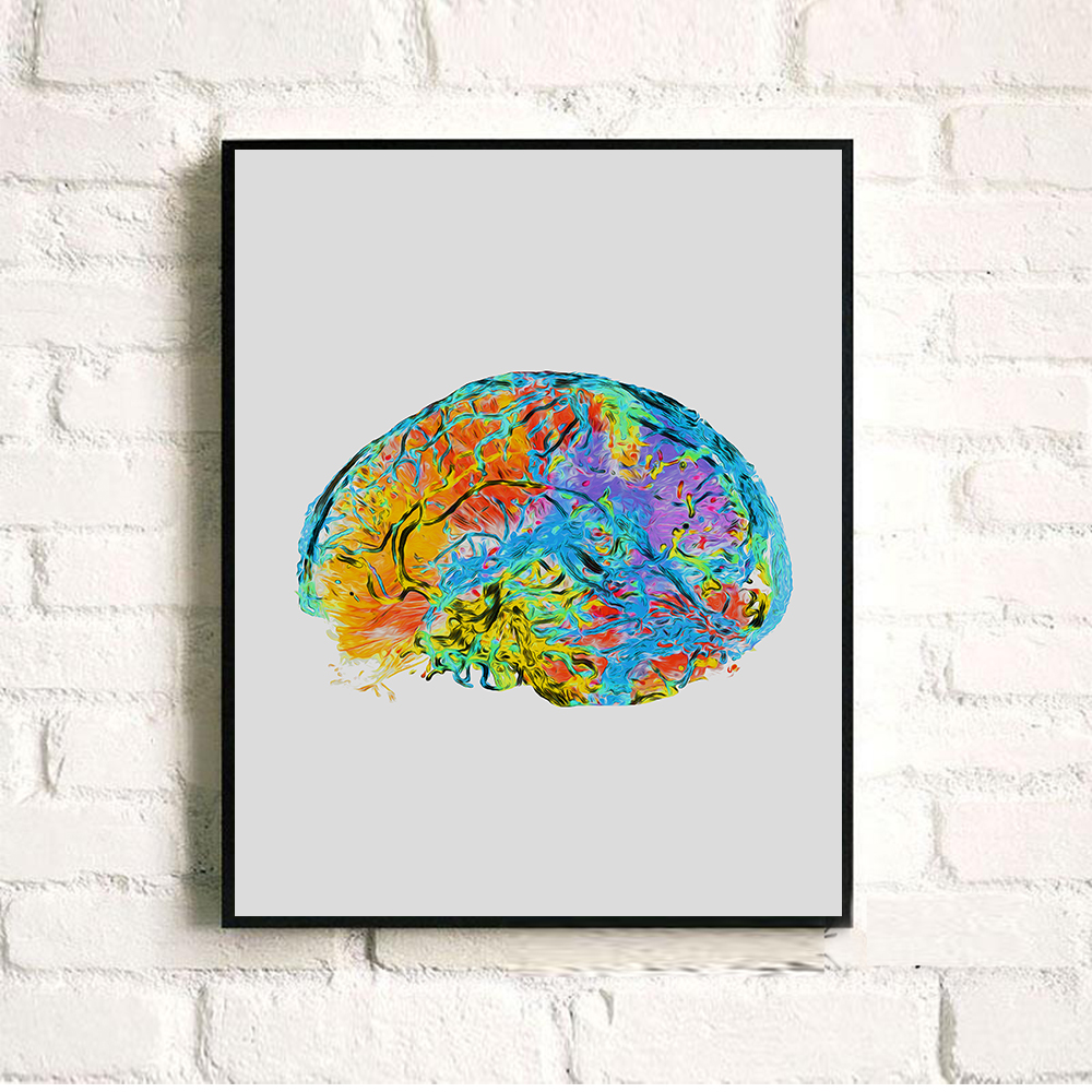 Watercolor Poster Brain Anatomy Drawing Pictures | www.picturesboss.com