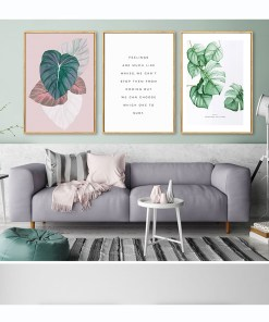 Marvelous Watercolor Leaf And Quote Wall Art Frameless Poster