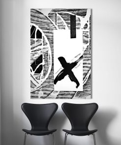 Sharp Black and White Merry Christmas Frameless Art Poster