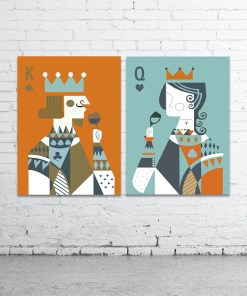 Spunky King And Queen Card Deck Frameless Poster