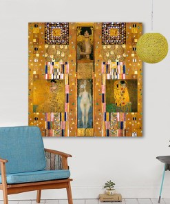 Lusty Gustav Klimt Oil Painting Frameless Wall Poster