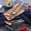 Appetizing Stainless Steel Long Handled Stirring Colourful Teaspoons