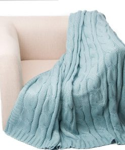 Frolicsome Knitted Cosy Throw Blanket