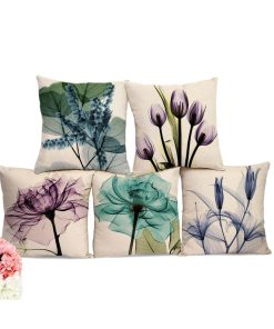 Sightly Watercolour Flower Prints Fabric Pillow Covers