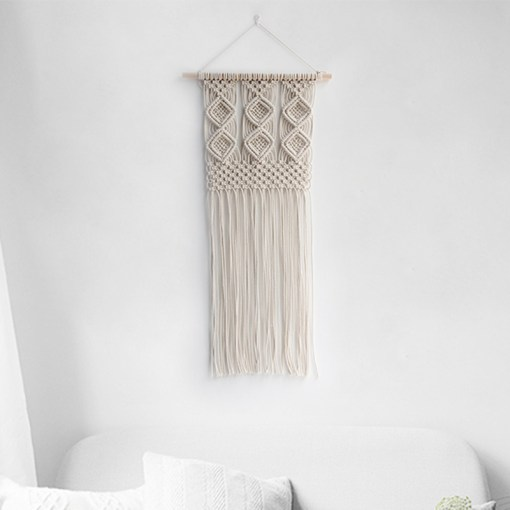 Carefree Bohemian Lace Macrame Handmade Tapestry