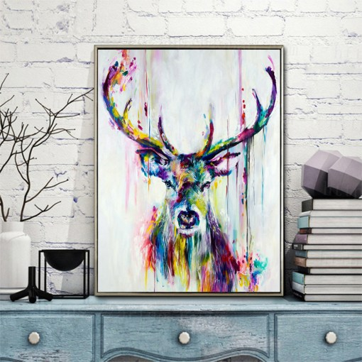 Superb Deer & Marilyn Watercolour Posters Frameless Wall Art