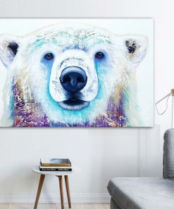 Nippy Watercolour Polar Bear Frameless Art Poster