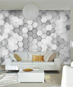Eye Poppingly Funky Stereoscopic Geometric Custom Wallpaper