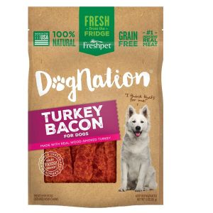 Freshpet Dognation Dog Treat - Natural, Grain Free, Turkey Bacon