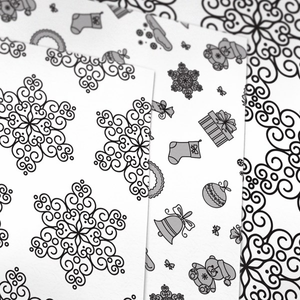 Christmas Patterned Printable Origami Paper Paper Kawaii Shop Cool Patterned Origami Paper