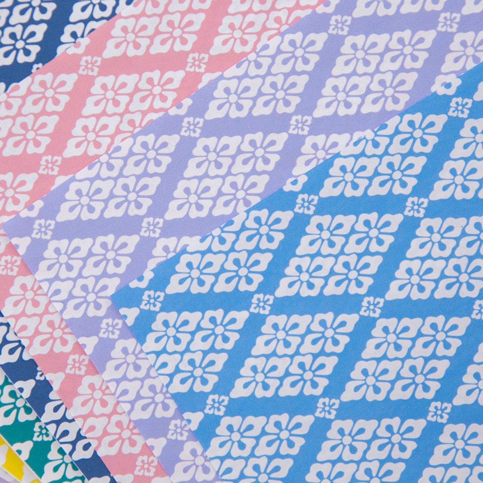 japanese flower pattern origami paper