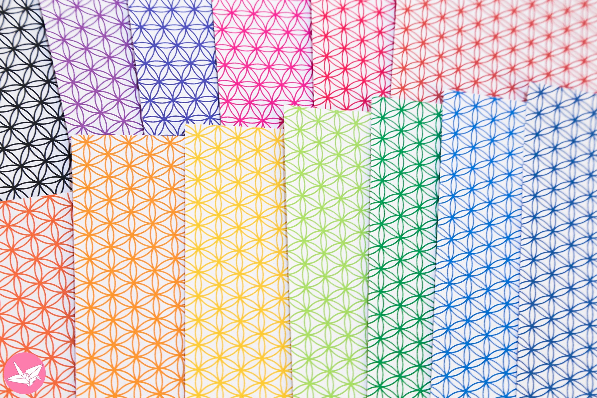 Flower Of Life Pattern Papers - Bright Lines - Paper ... - photo#38
