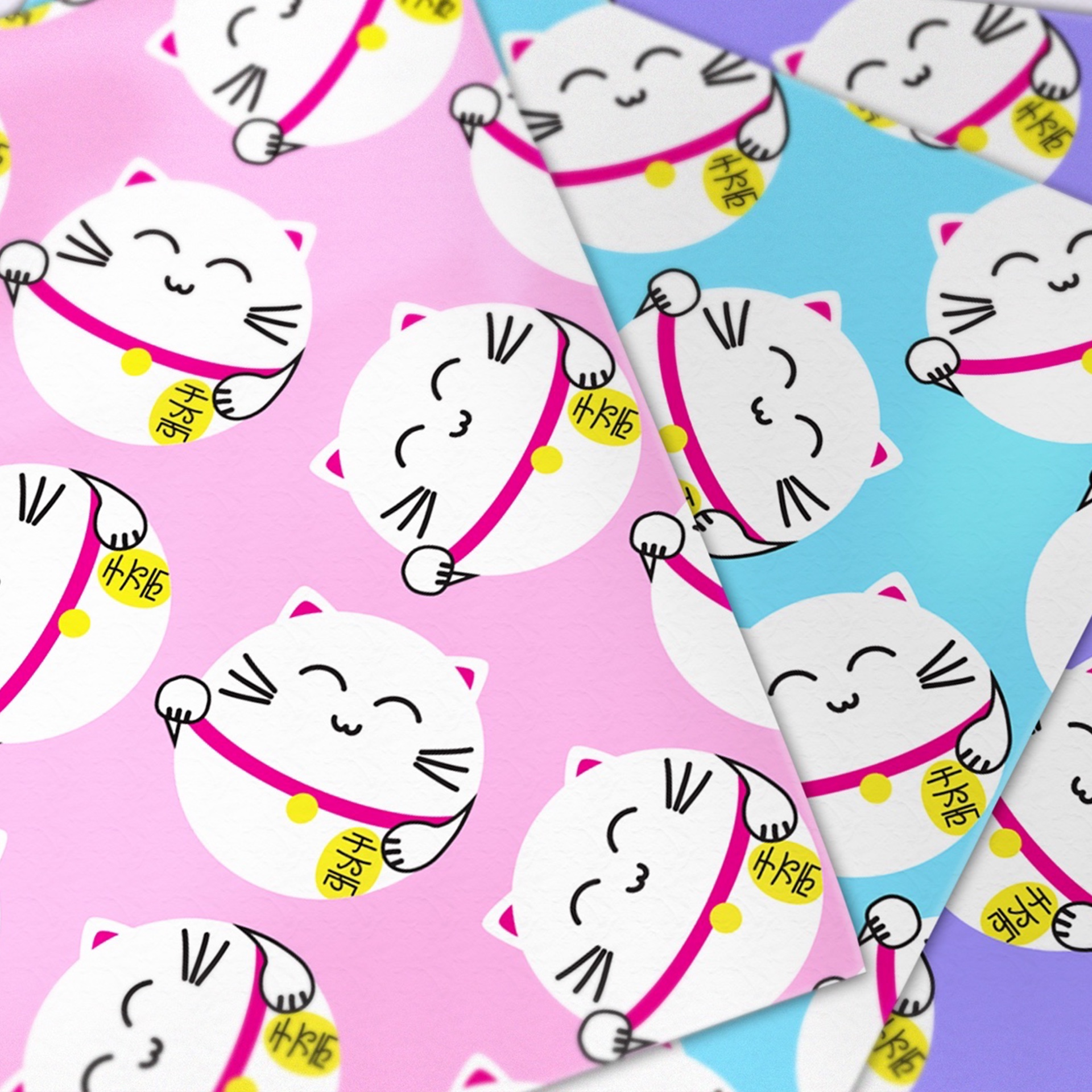 Japanese Lucky Cats Printable Origami Paper - Paper Kawaii ... - photo#12