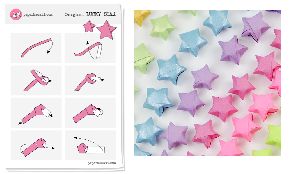 on origami star diagram