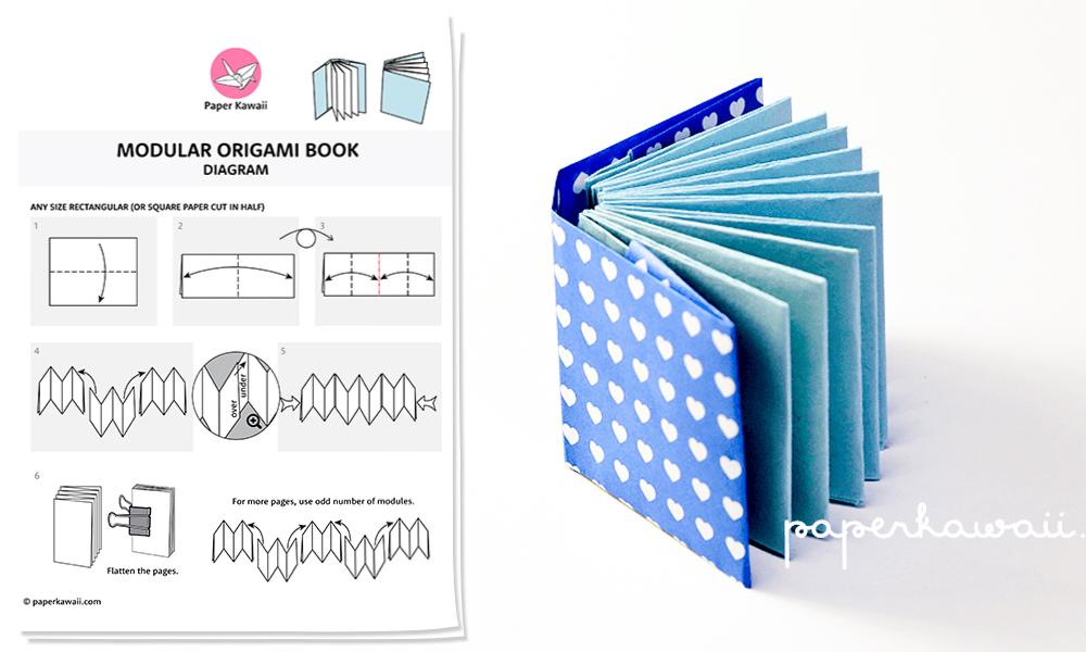 Origami Mini Book Diagram - Paper Kawaii Shop - photo#47