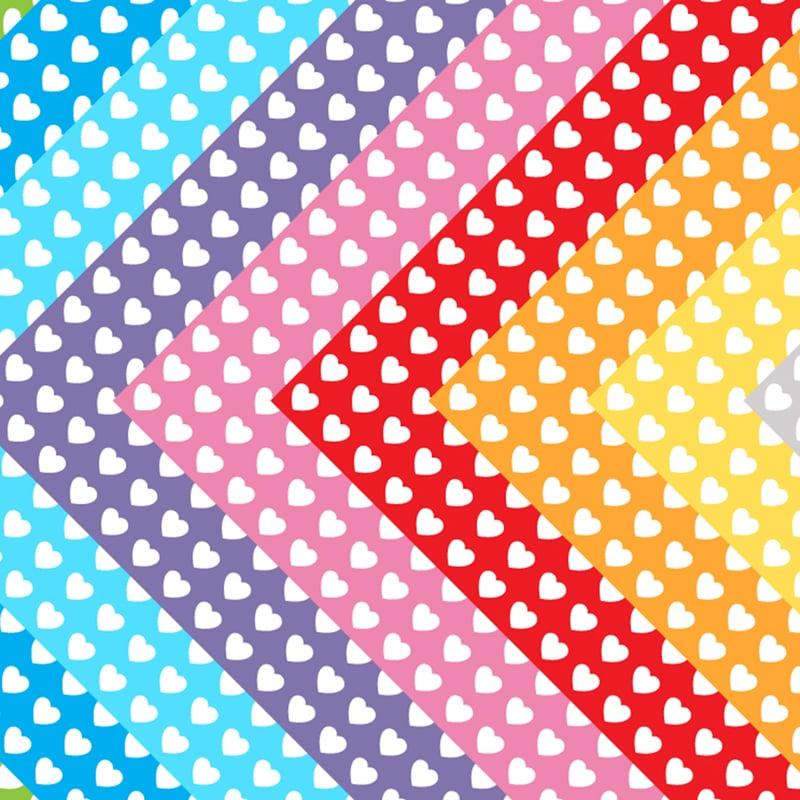 photo regarding Printable Paper Patterns identify White Hearts Printable Origami Paper